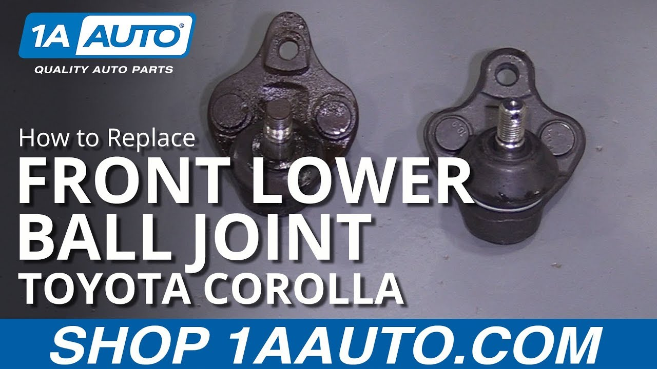 How to Replace Front Lower Ball Joint 93-95 Toyota Corolla