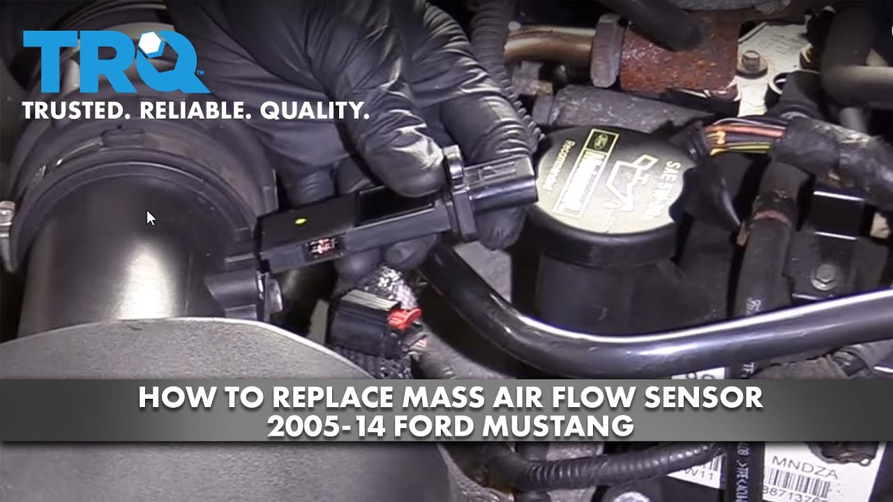 How to Replace Mass Air Flow Sensor 2005-14 Ford Mustang