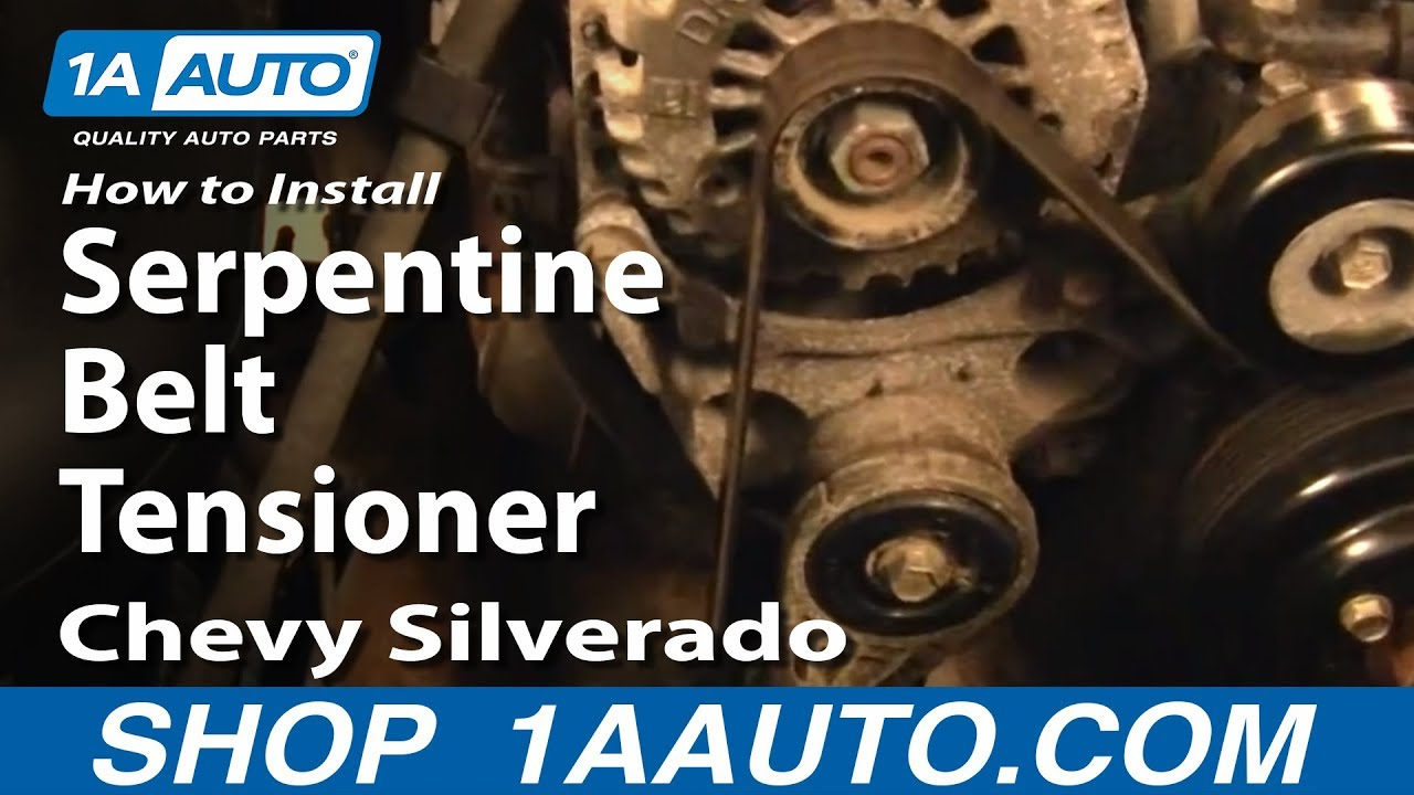 How to Replace Serpentine Belt Tensioner 99-14 Chevy Silverado 1500