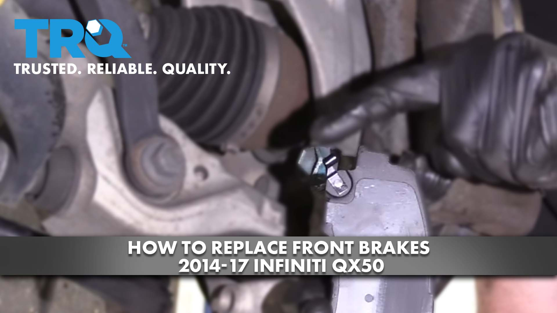 How to Replace Front Brakes 14-17 Infiniti QX50