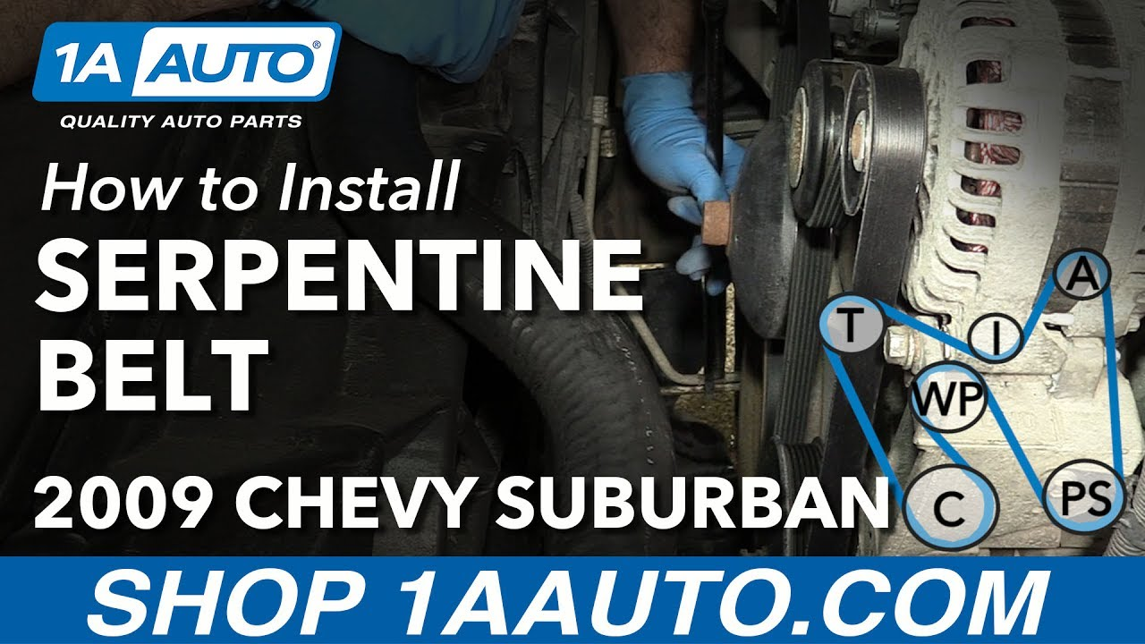How to Replace Serpentine Belt 07-13 Chevy Suburban