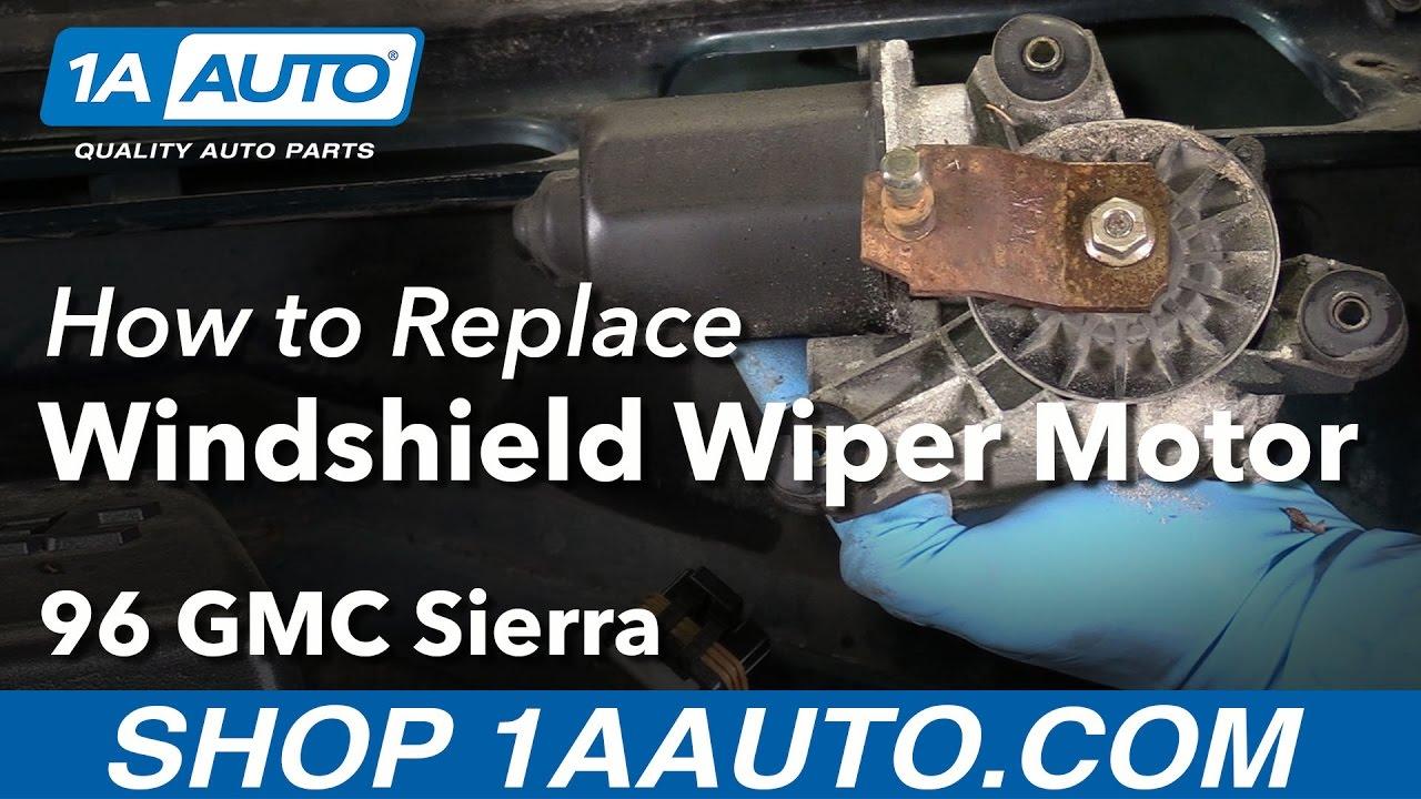 How to Replace Wiper Motor 88-98 GMC Sierra K1500