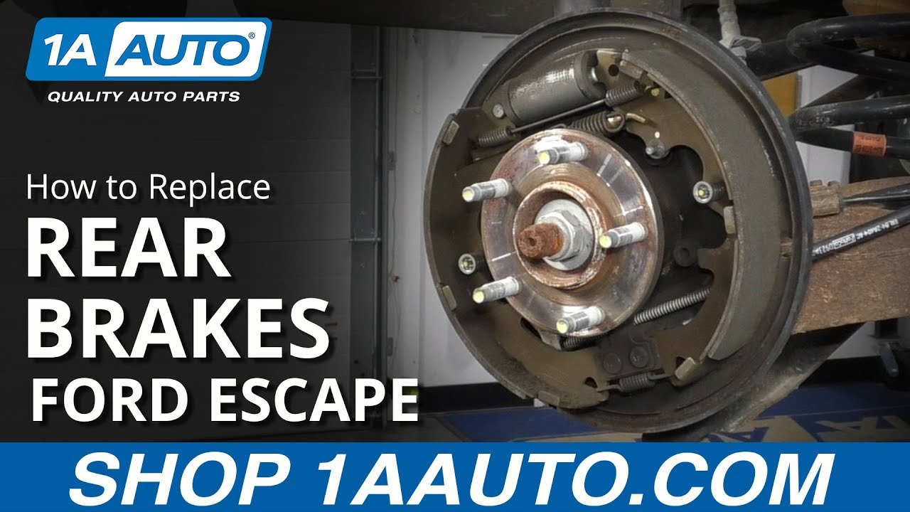 How to Replace Rear Brakes 08-12 Ford Escape