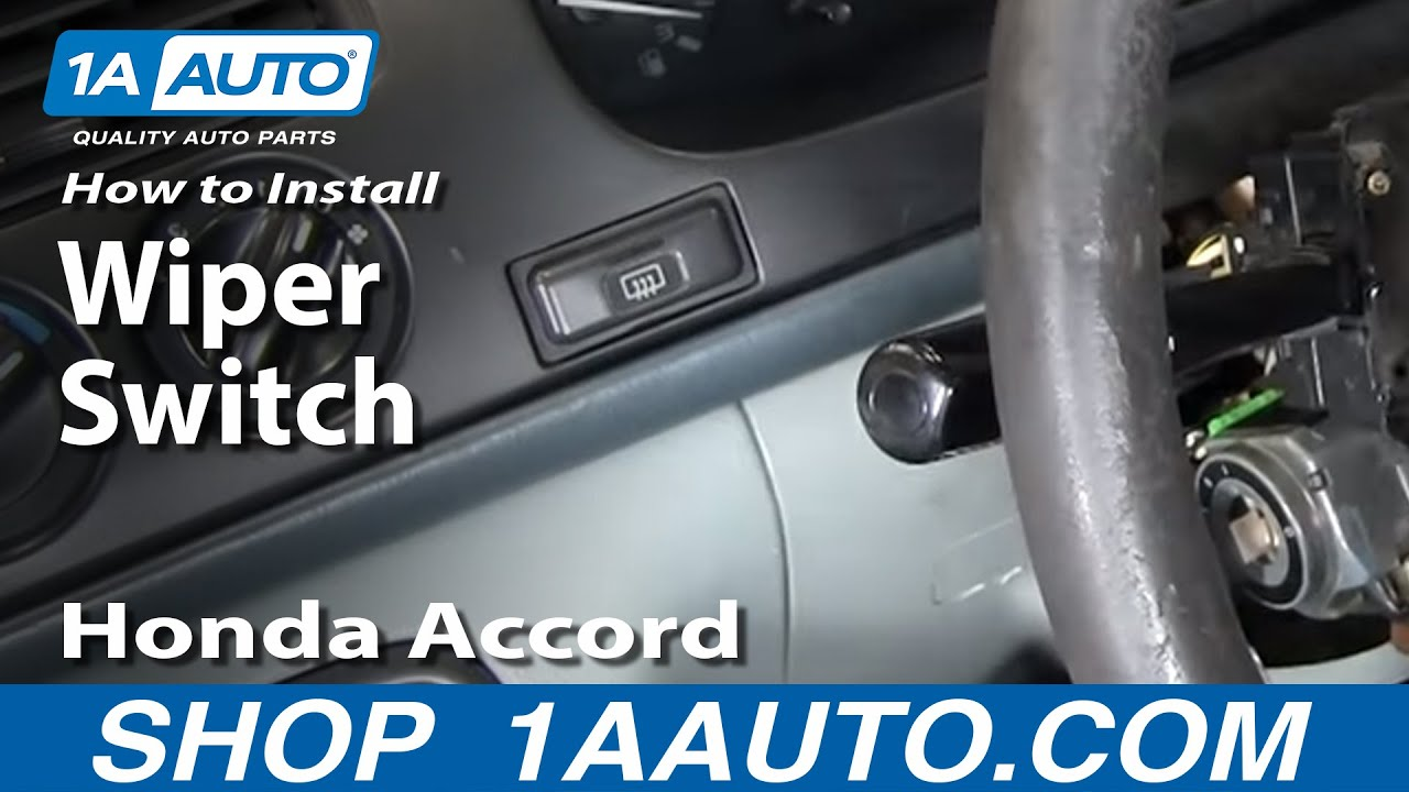 how to replace windshield wiper switch 95-02 honda accord