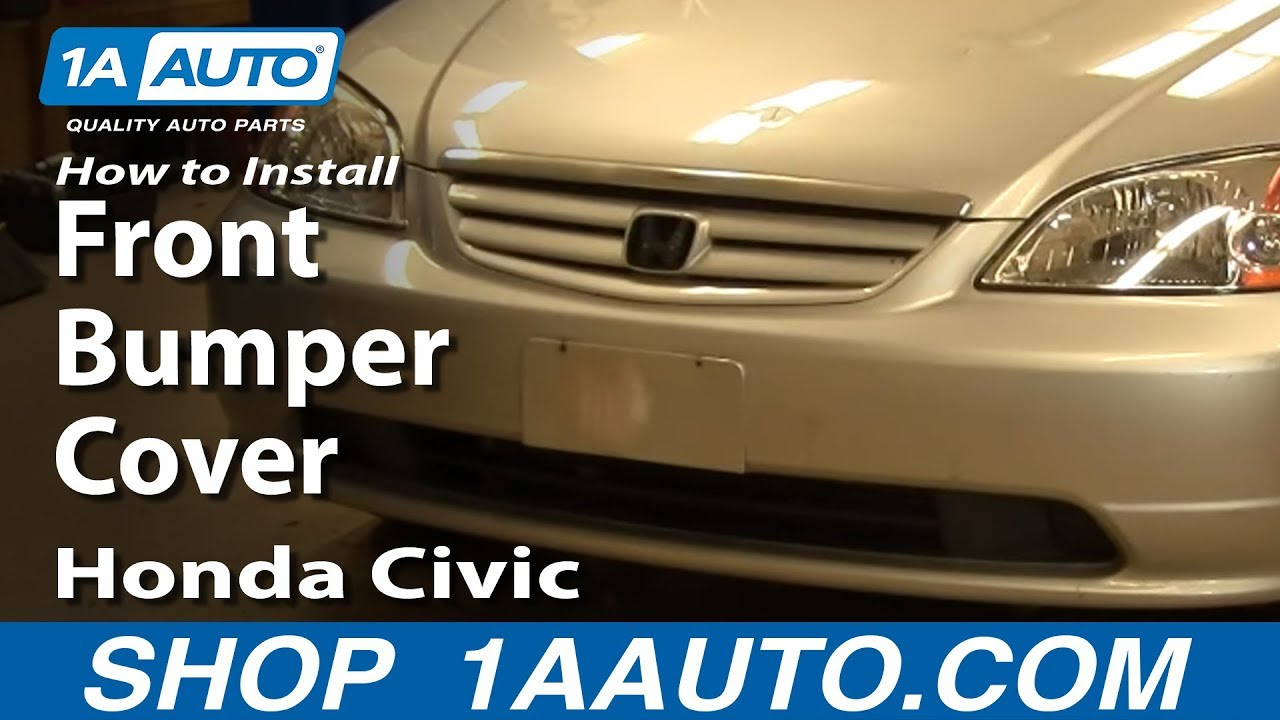 How To Remove Front Bumper Cover 01-05 Honda Civic