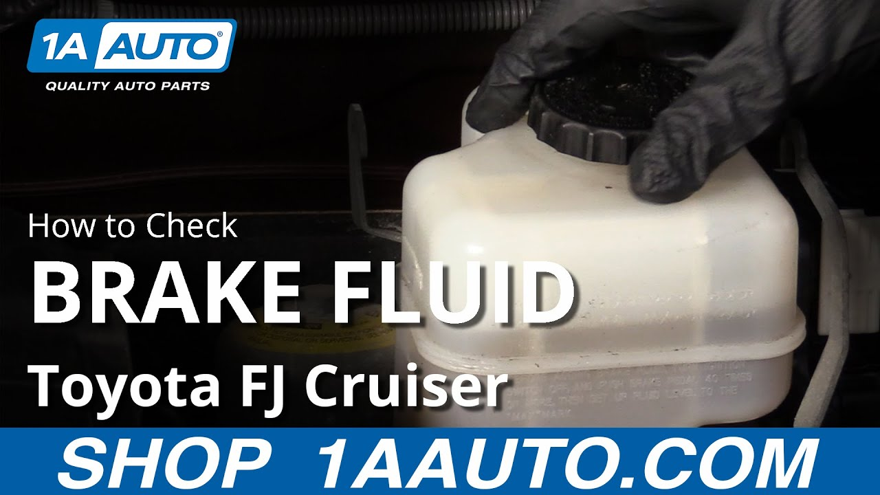 How to Check Brake Fluid 07-14 Toyota FJ Cruiser