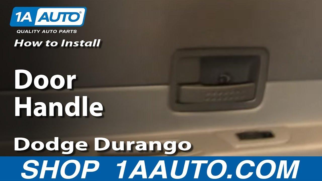 How To Replace Rear Door Handle 04-09 Dodge Durango