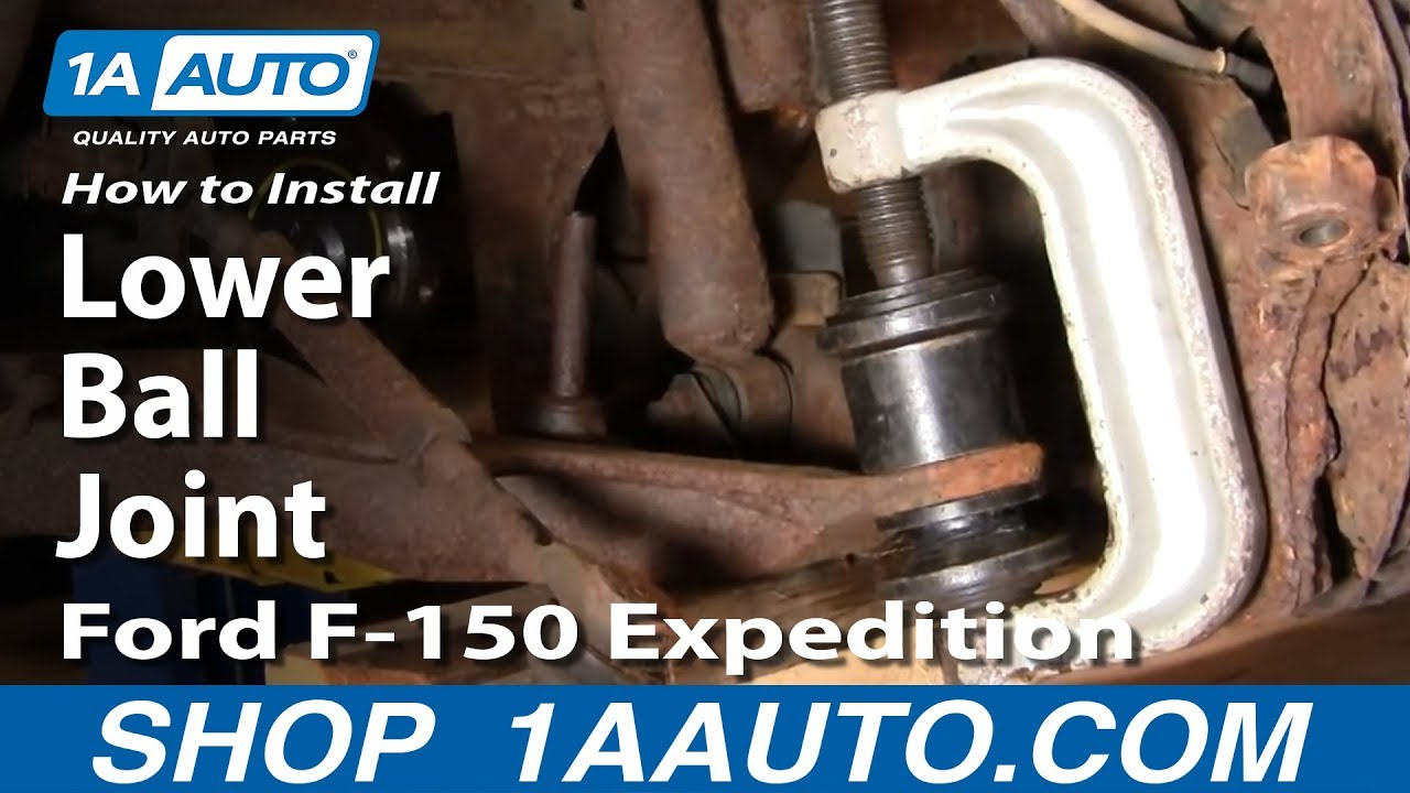 How To Replace Lower Ball Joint 97-02 Ford Expedition PART 2