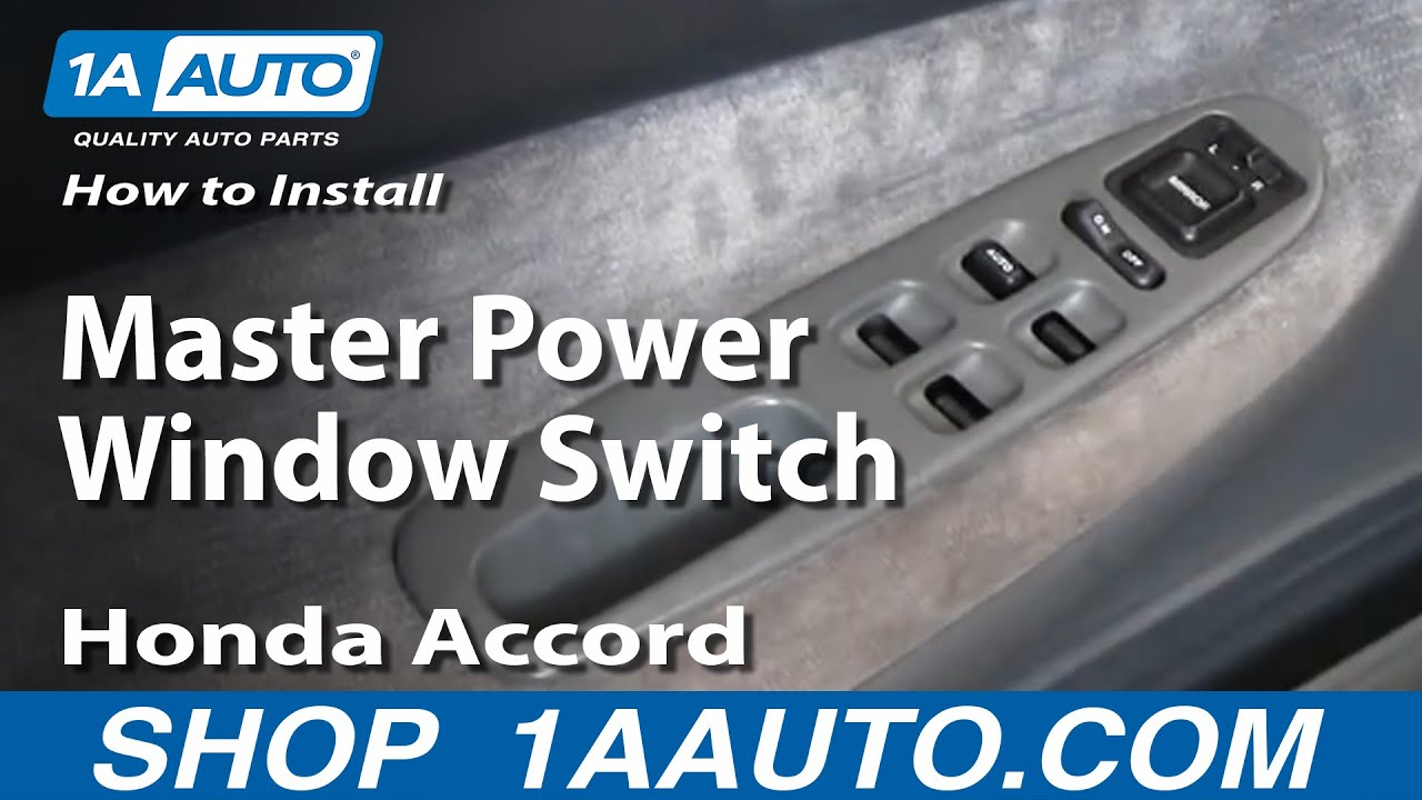 How To Install Replace Master Power Window Switch Honda Accord 94-97 1AAuto.com