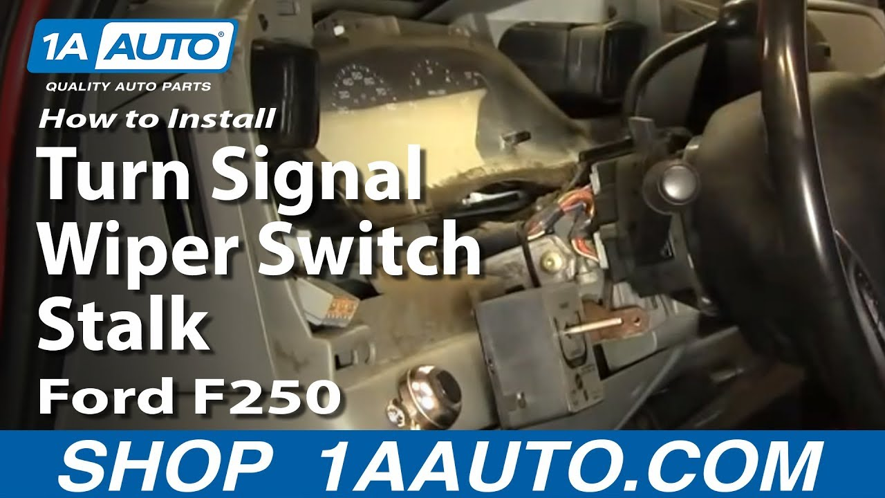 How to Replace Combination Switch 02-07 Ford F250 Super Duty Truck