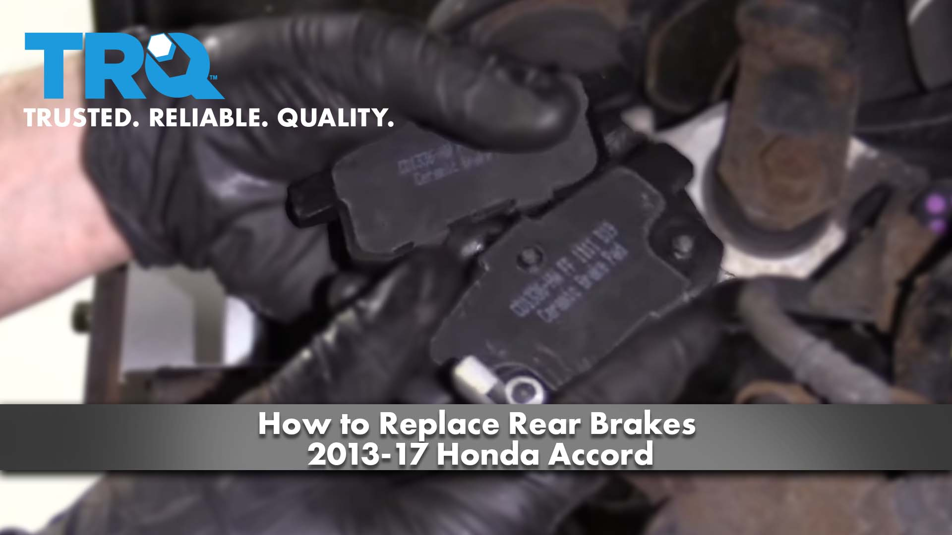 How to Replace Rear Brakes 2013-17 Honda Accord