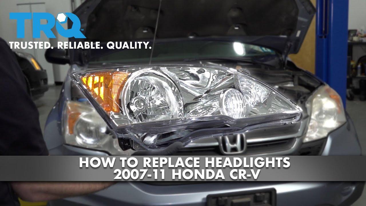 How To Replace Headlights 2007-11 Honda CR-V