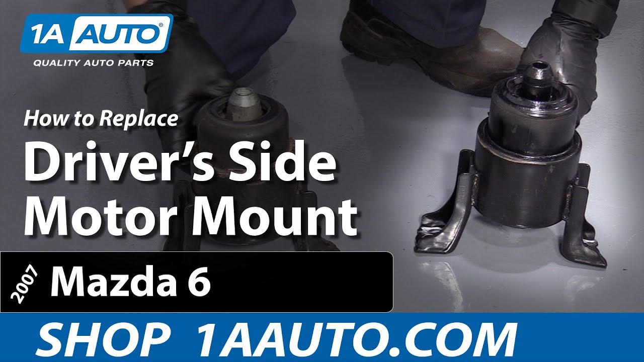 How To Remove Replace Motor Mount 03-06 Mazda 6