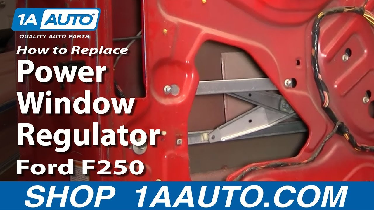 how to replace window regulator 99-12 ford f250 super duty truck | 1a auto