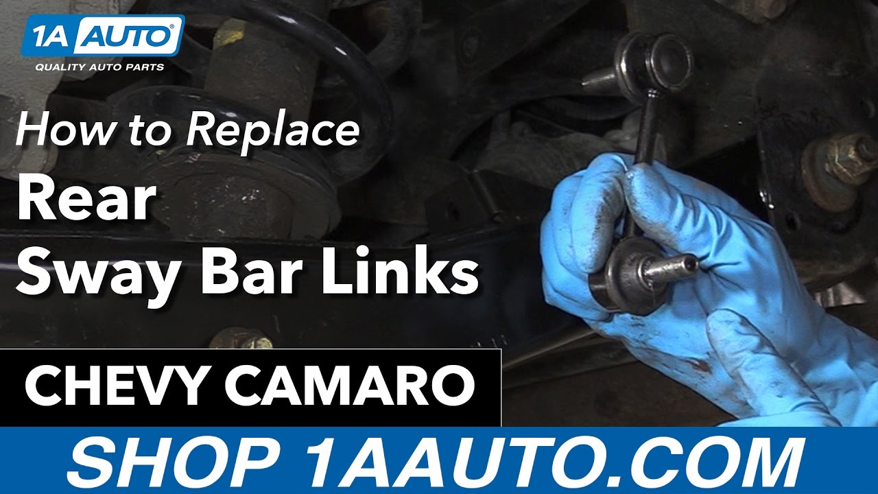 How to Replace Rear Sway Bar Links 10-15 Chevy Camaro