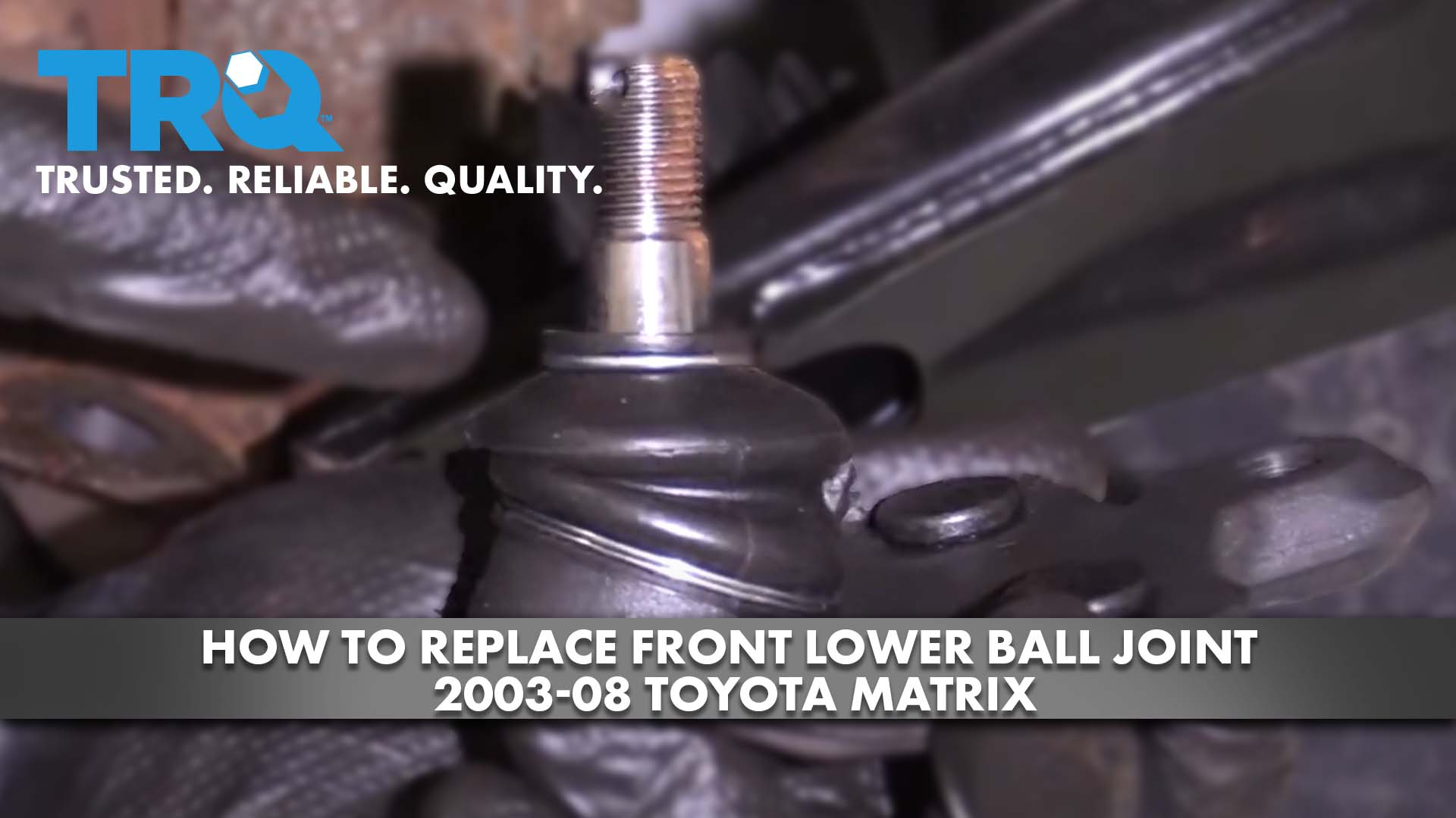 How to Replace Front Lower Ball Joint 2003-08 Toyota Matrix