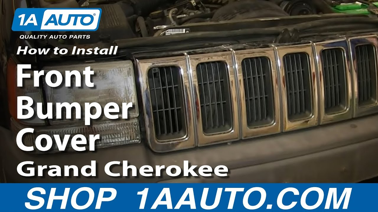 How To Replace Front Bumper Cover 93-98 Jeep Grand Cherokee