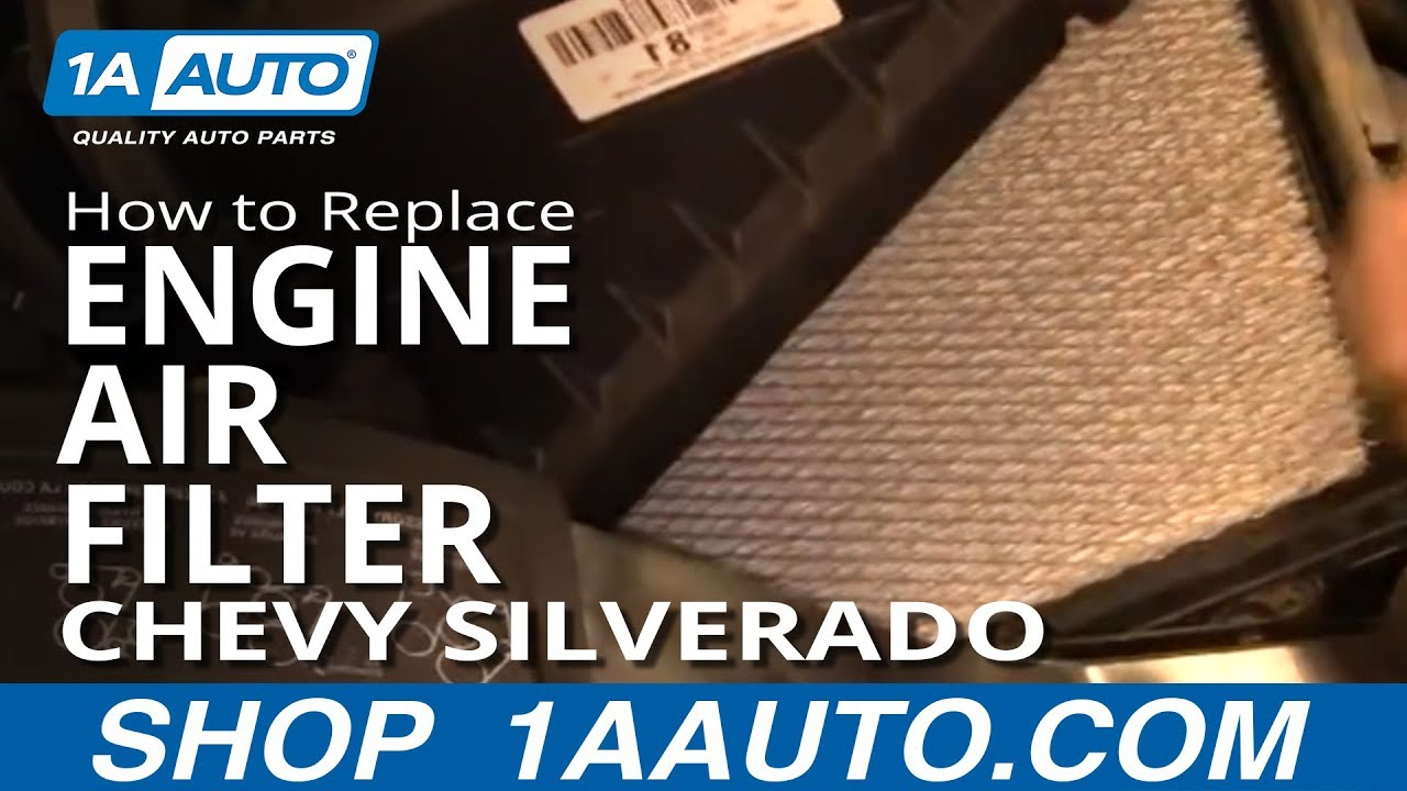 How To Replace Air FIlter 99-07 Chevy SIlverado 1500