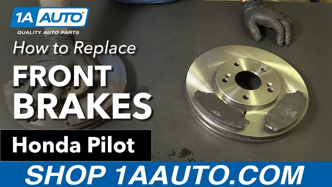 How to Replace Install Front Brakes 03-08 Honda Pilot