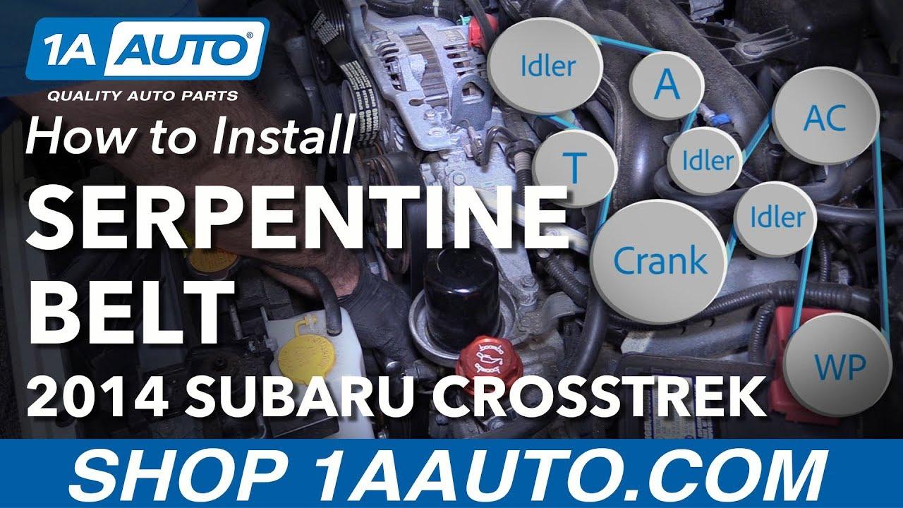 How to Replace Serpentine Drive Belt 13-15 Subaru XV Crosstrek