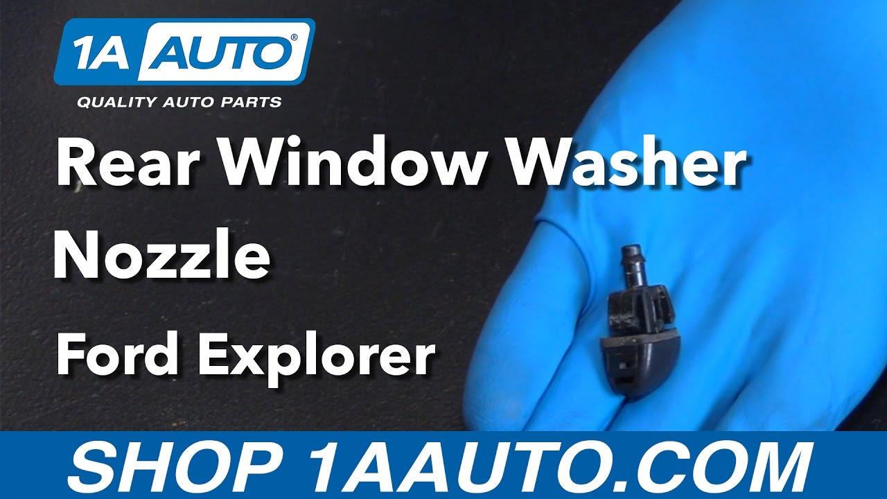 How to Replace Rear Window Washer Nozzle 02-10 Ford Explorer