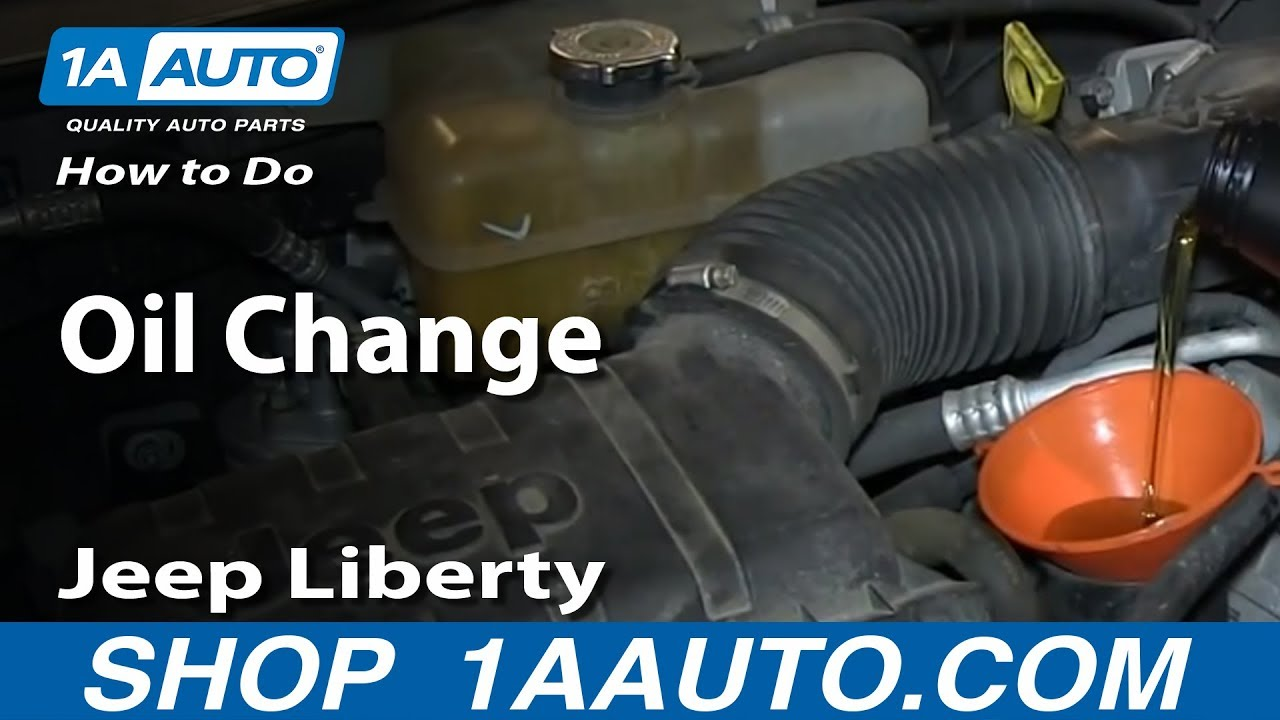 How To Change Oil 02-13 Jeep Liberty