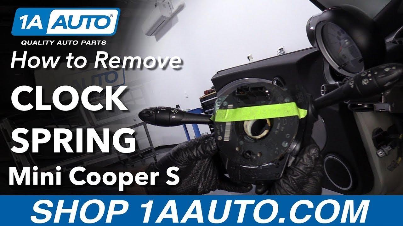 How to Remove Clock Spring 07-11 Mini Cooper S