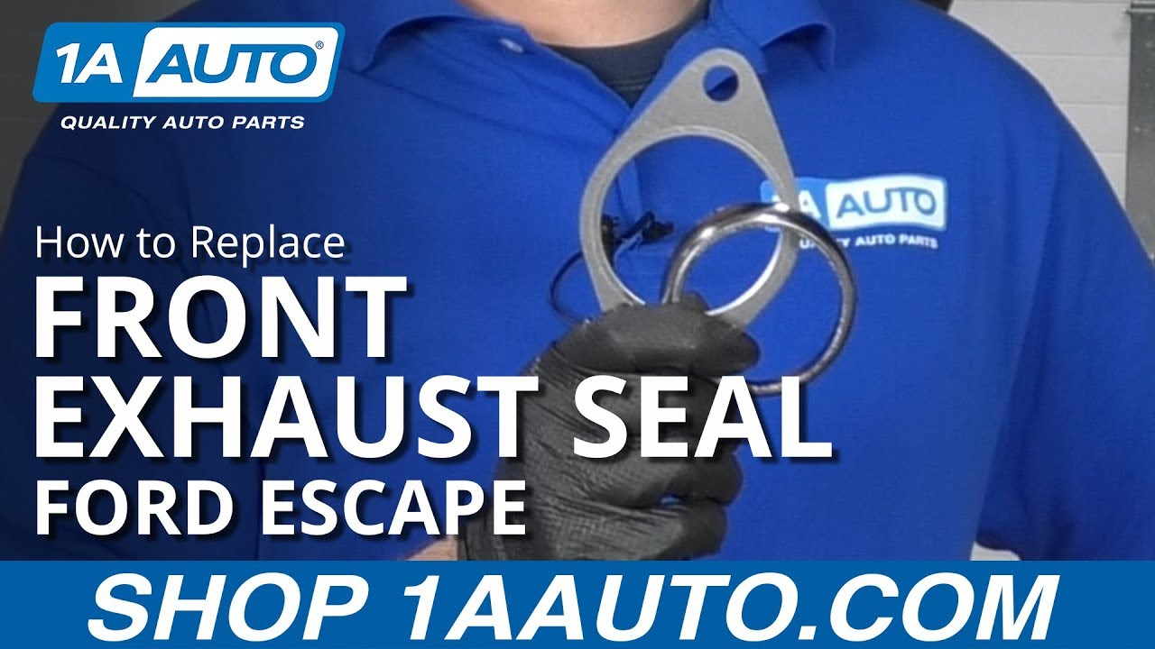 How to Replace Front Exhaust Seals 08-12 Ford Escape
