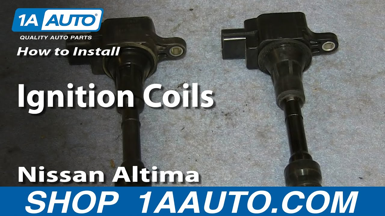 How To install Replace Ignition Coils 25L 2002-06 Nissan Altima