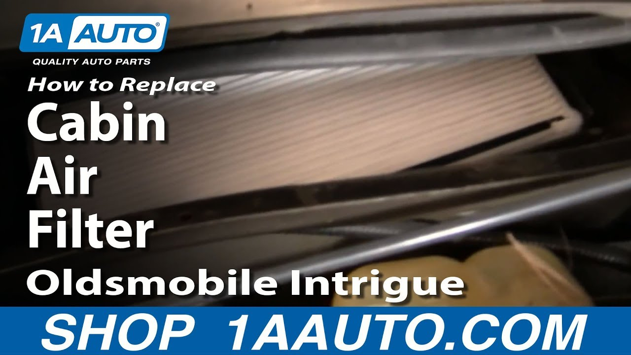 How to Replace Cabin Air Filter 98-02 Oldsmobile Intrigue