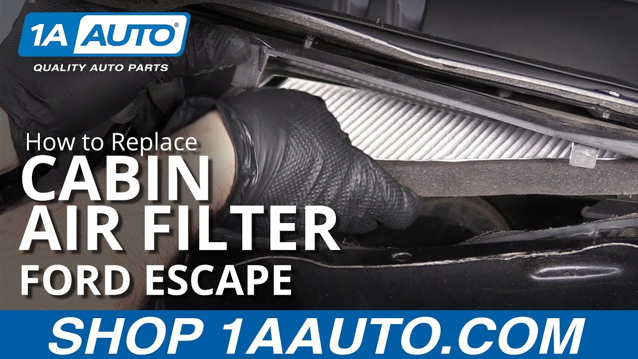 How to Replace Cabin Air Filter 08-12 Ford Escape