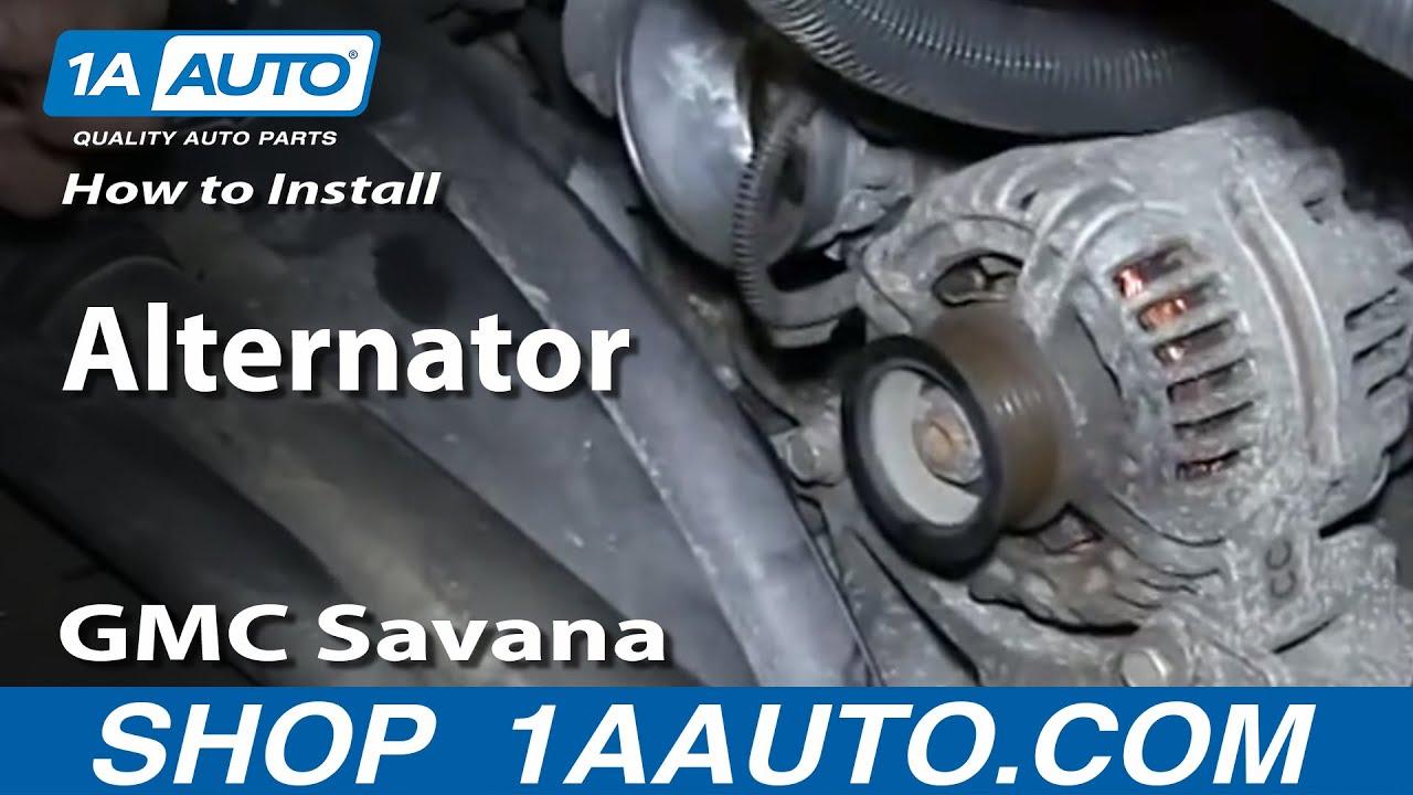 How To Replace Alternator 03-09 GMC Savana 5.3L/6.0L