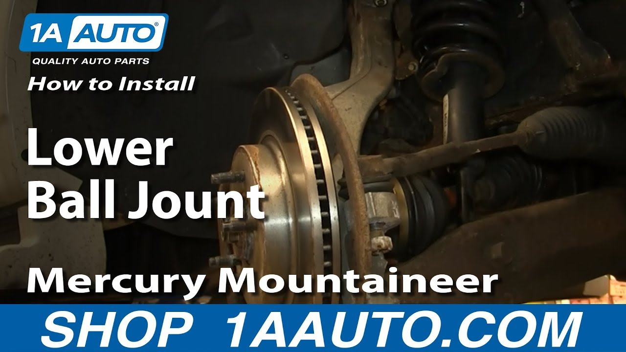 How to Replace Ball Joint 97-10 Mercury Mountaineer