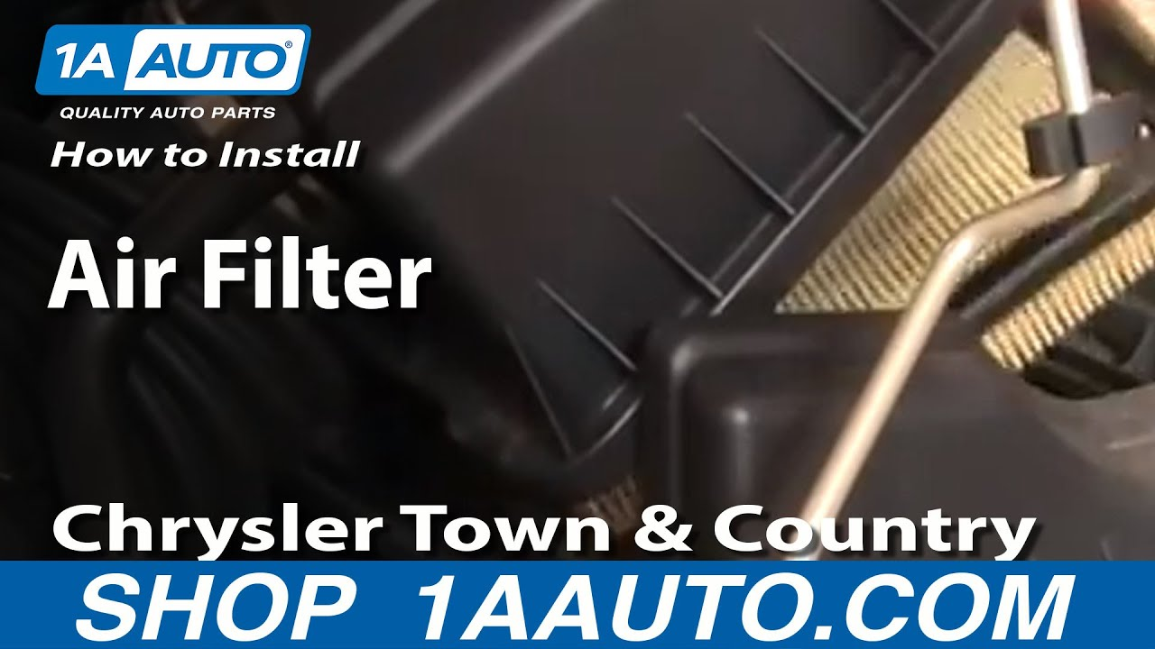 How To Replace Air Filter 01-07 Chrysler Town and Country