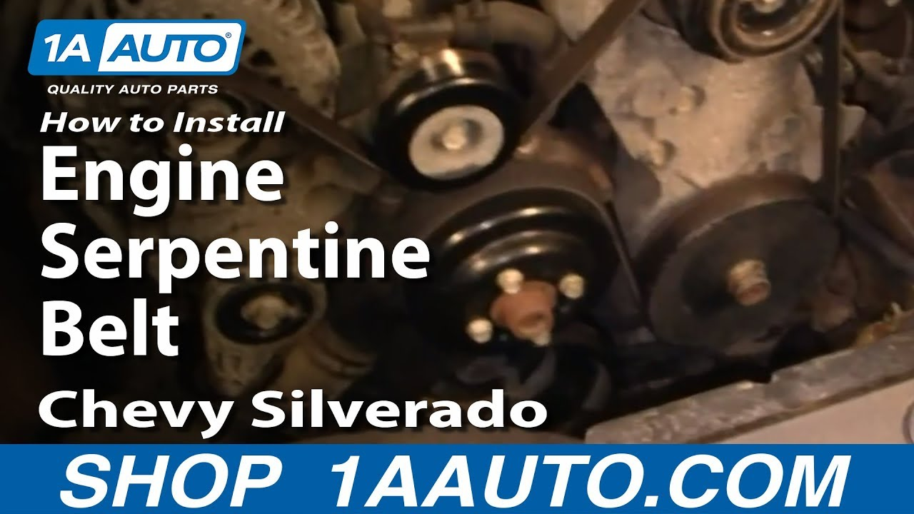 How To Replace Serpentine Belt 05
