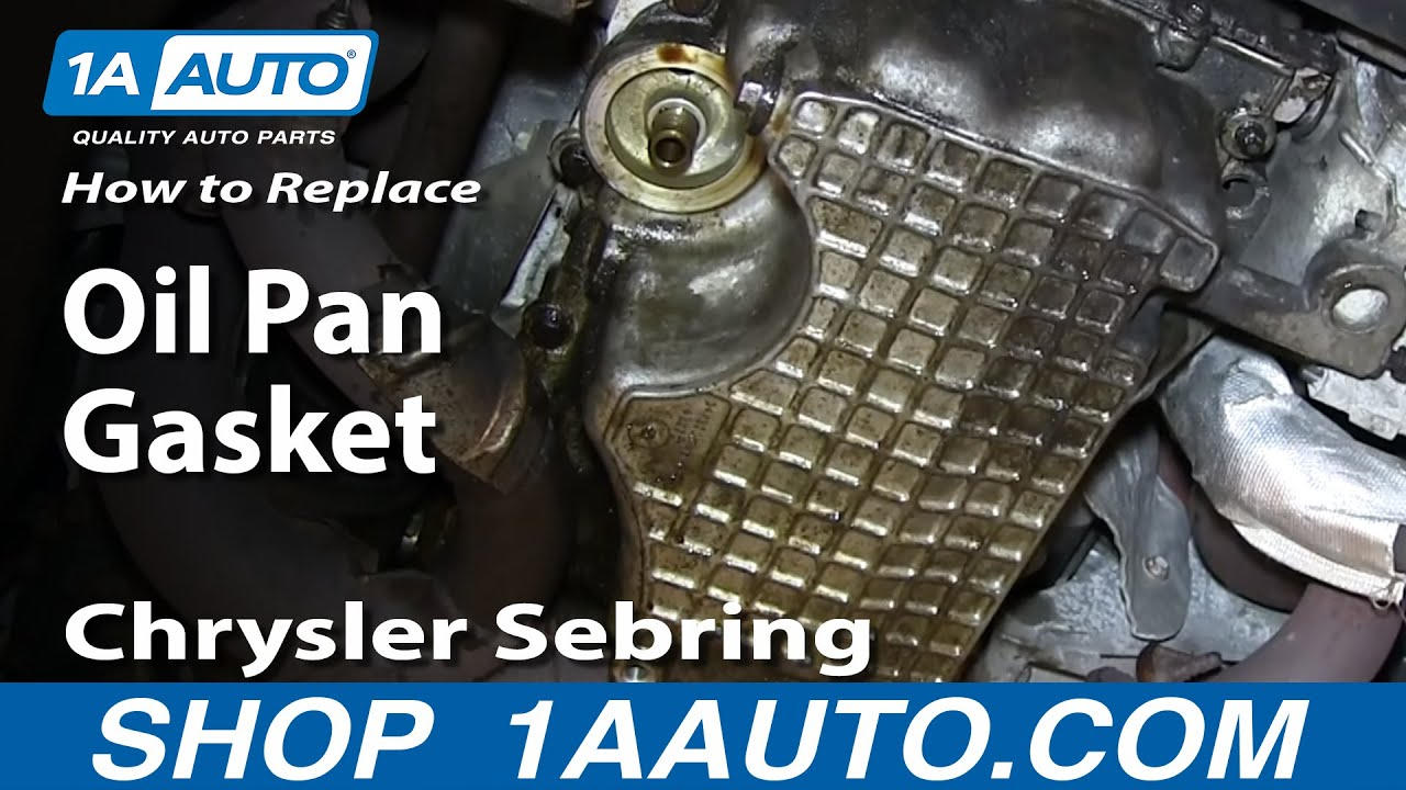 How to Replace Oil Pan Gasket 01-09 Chrysler Sebring