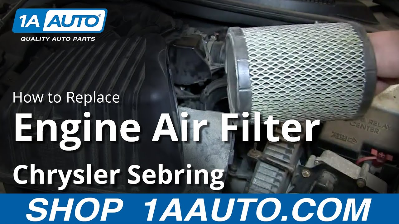 How to Replace Engine Air Filter 01-06 Chrysler Sebring