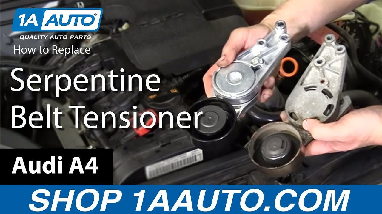 How to Replace Serpentine Belt Tensioner 02-08 Audi A4