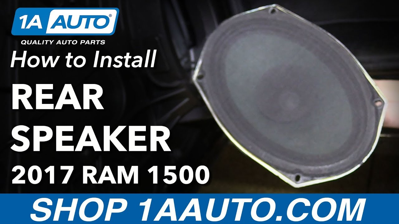 How to Replace Rear Door Speaker 09-18 Ram 1500