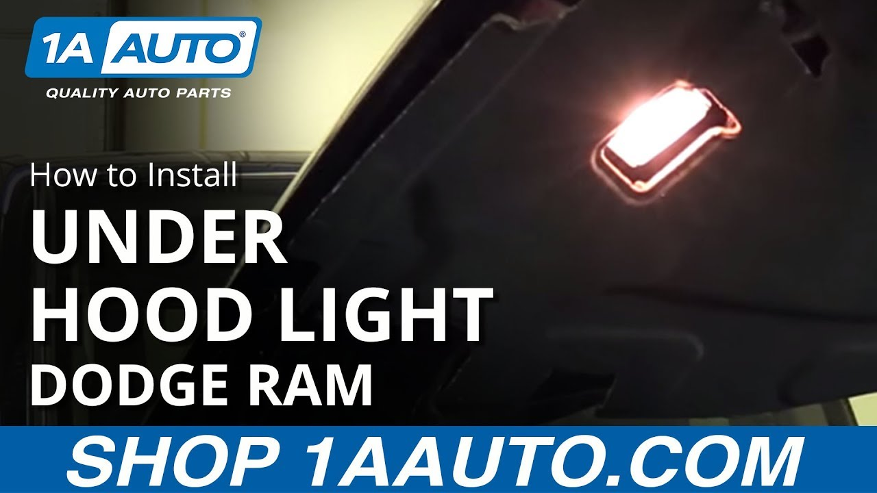 How to Replace Under Hood Light 98-10 Dodge Ram
