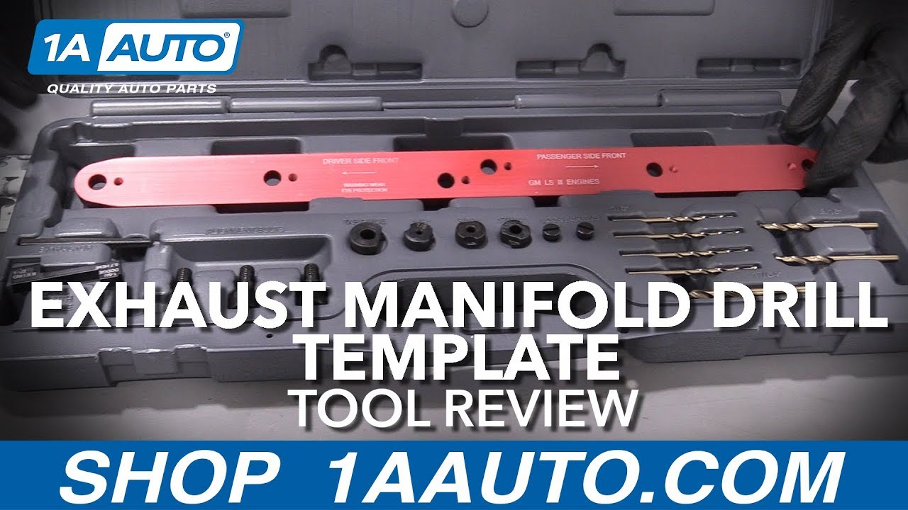 Exhaust Manifold Drill Template - Available at 1aauto.com