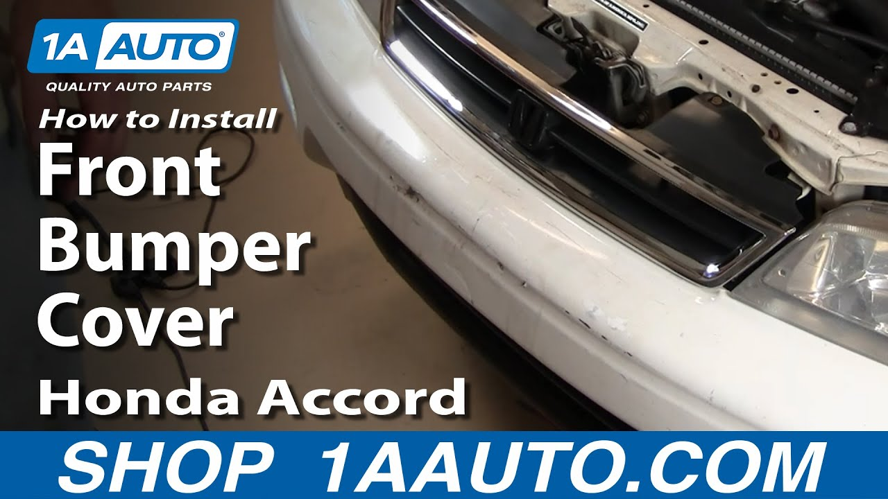 How To Replace Front Bumper Cover 94-97 Honda Accord