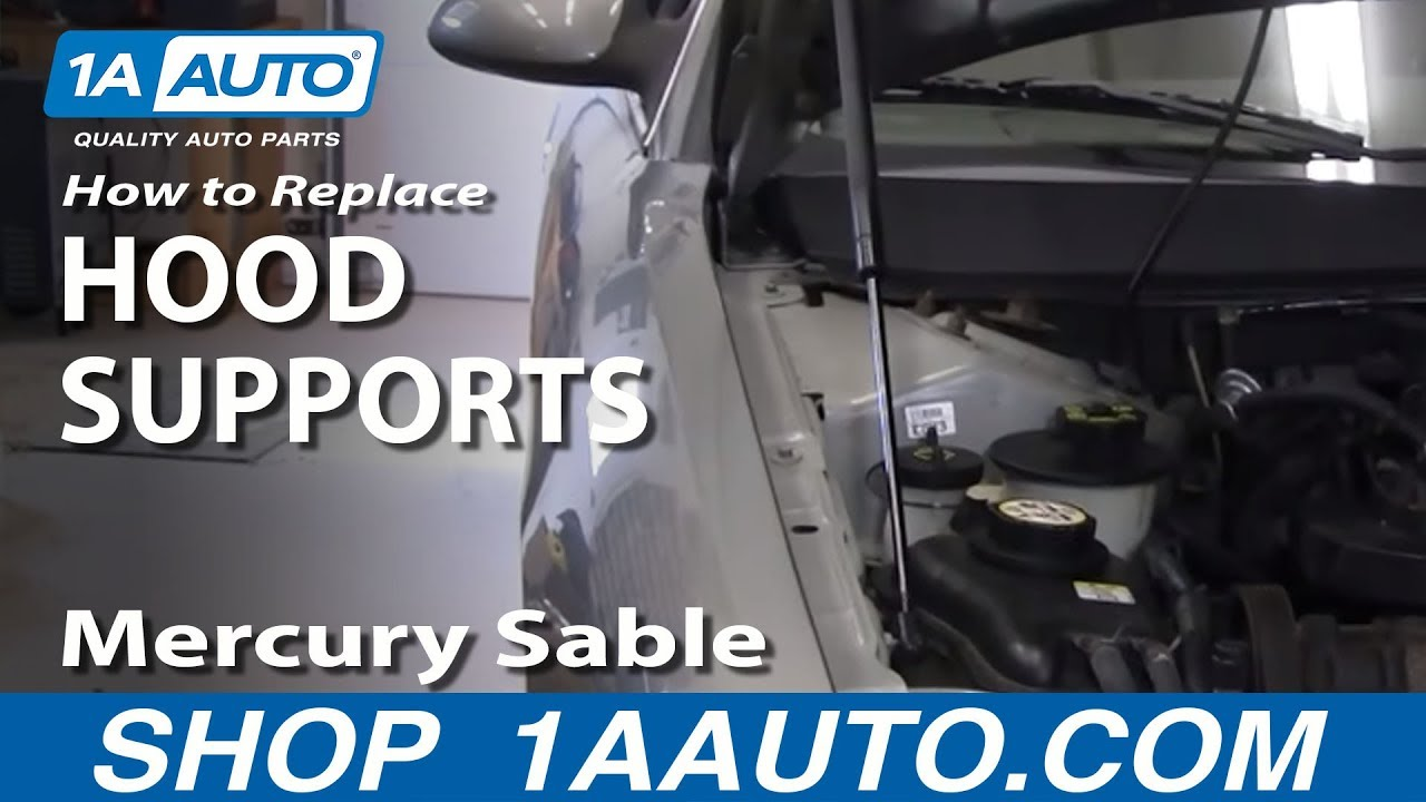 How to Replace Hood Lift Support 00-05 Mercury Sable
