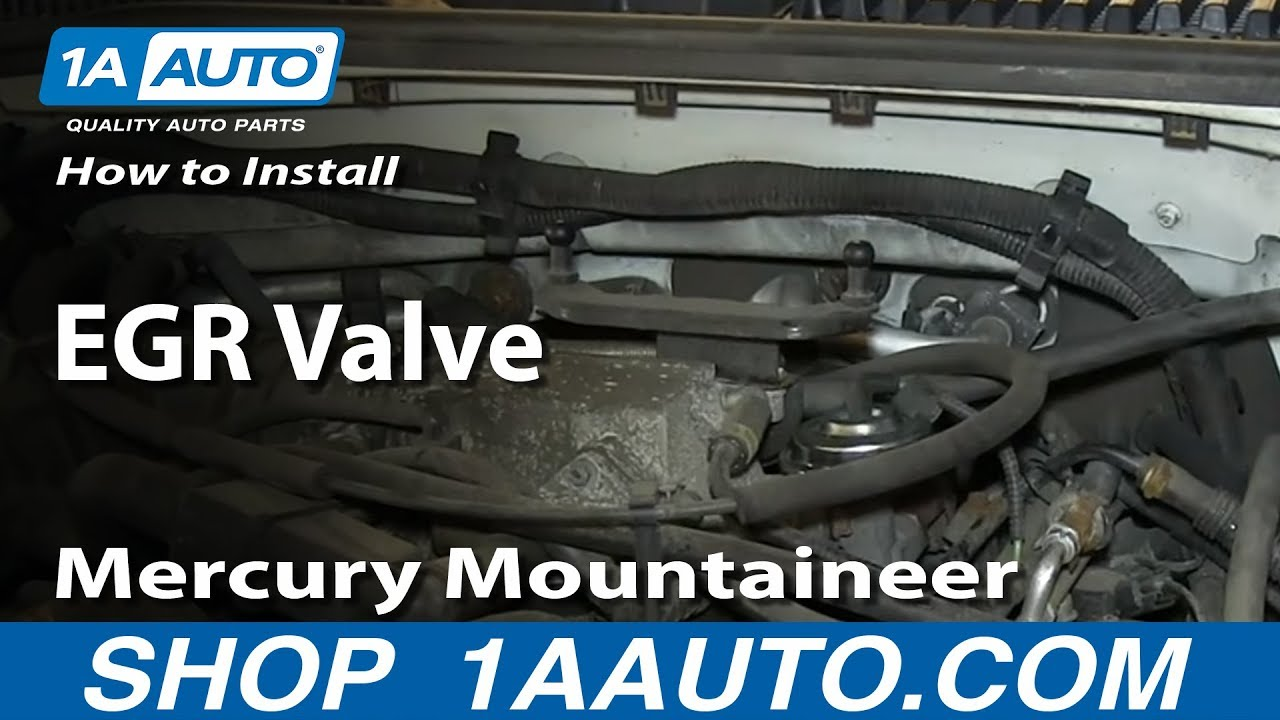 How to Replace EGR Valve 02-03 Mercury Mountaineer 4.6L