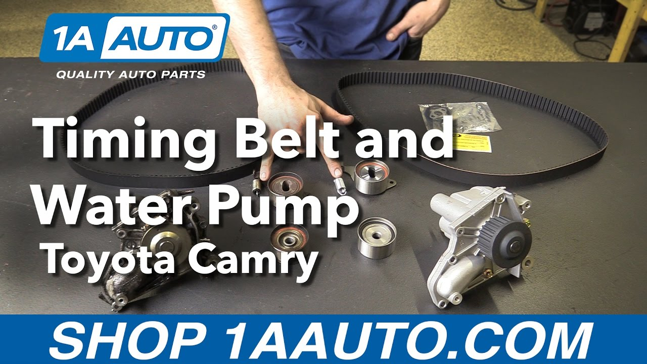 How To Replace Timing Belt And Water Pump 92 01 Toyota Camry 1a Auto