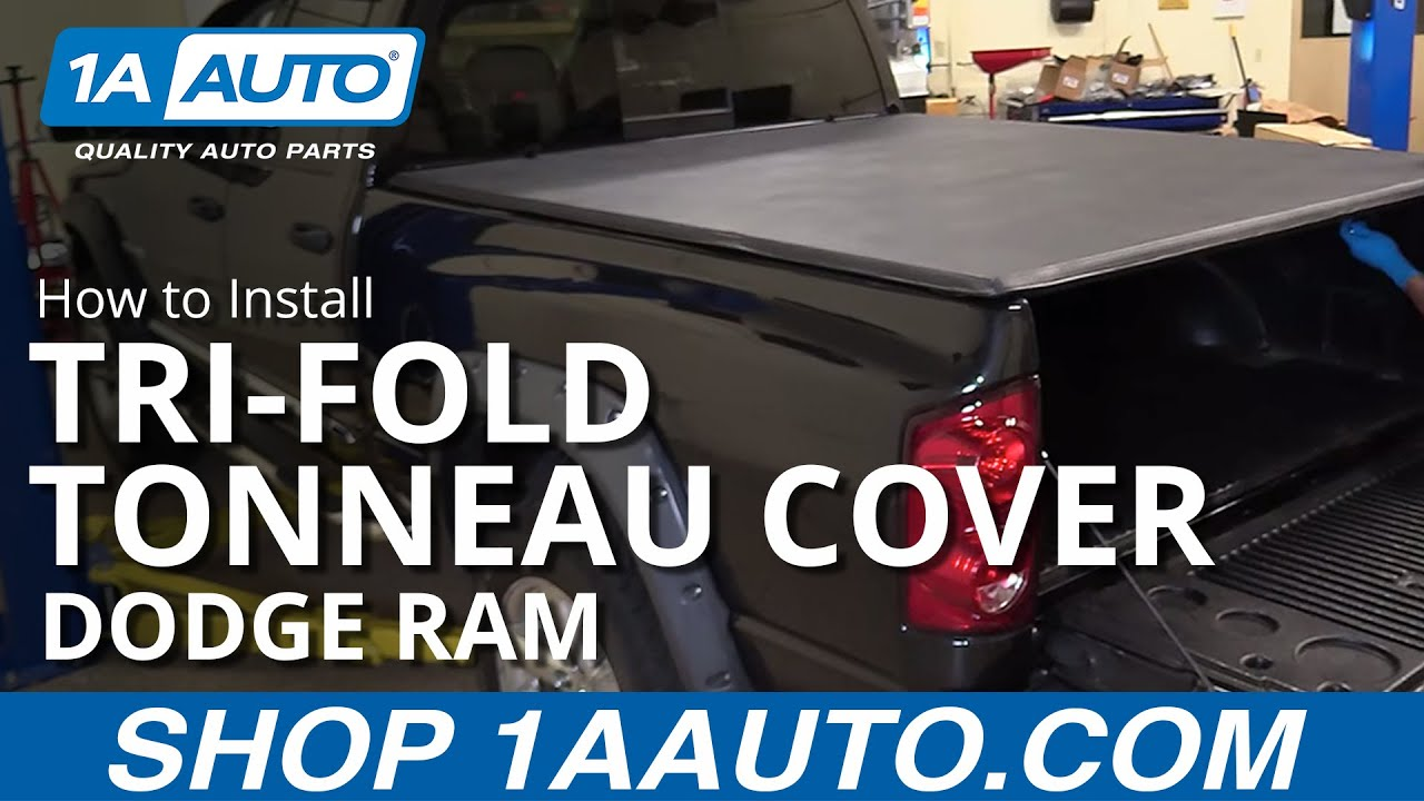 How to Install 6 1/2 Foot Soft Tri-Fold Tonneau Cover 02-08 Dodge Ram