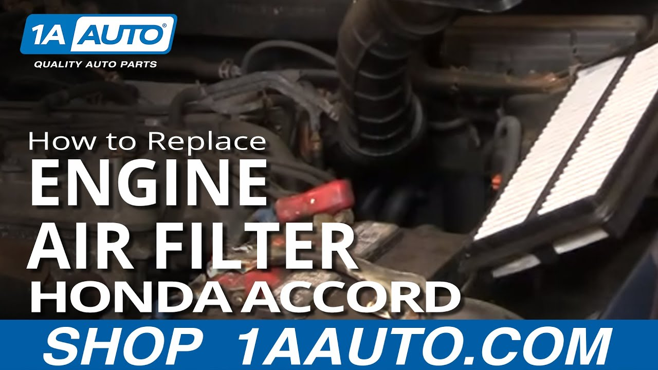 How To Replace Engine Air Filter 98-02 Honda Accord 4 Cylinder