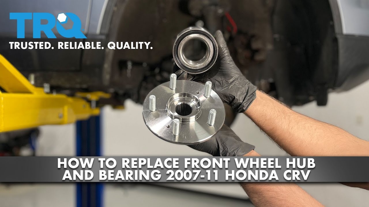 How To Replace Front Wheel Hub and Bearing 2007-11 Honda CRV