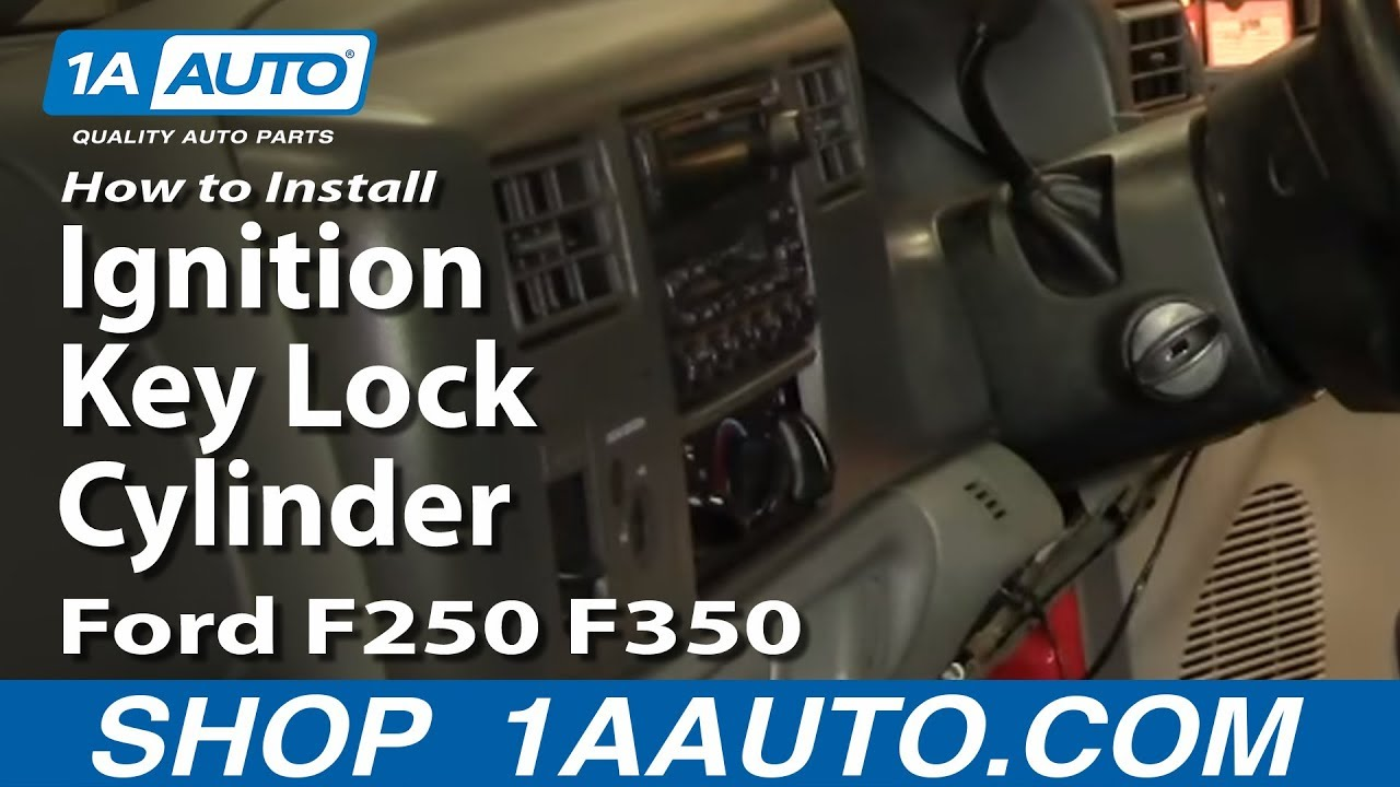 How to Replace Ignition Key Lock Cylinder 99-04 Ford F250 F350