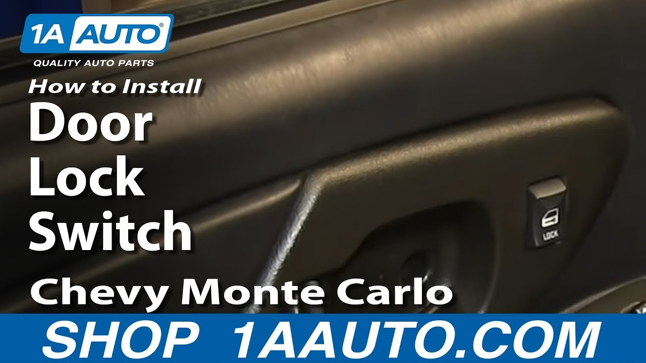 How To Replace Door Lock Switch 00-07 Chevy Monte Carlo